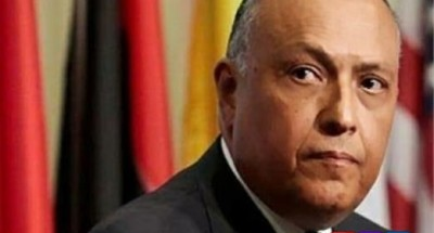 وزير الخارجية المصري منددًا