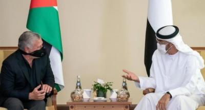 ولي عهد أبوظبي والعاهل الأردني يناقشان قرار إسرائيل ضم أراضٍ فلسطينية