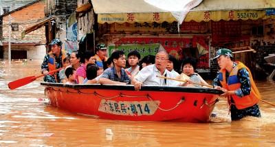 الفيضانات تغمر أكبر بحيرة للمياه العذبة في الصين