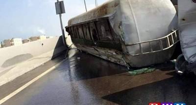 الصحة: إصابة 12 في انقلاب سيارة مواد بترولية بطريق القاهرة الإسماعيلية