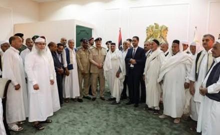 وفد من المجلس الأعلى لمشائخ وأعيان ليبيا يلتقي السيسي في القاهرة