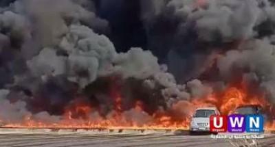 عاجل .. النيابة تفتح تحقيقات فى حريق موقف العاشر بالسلام