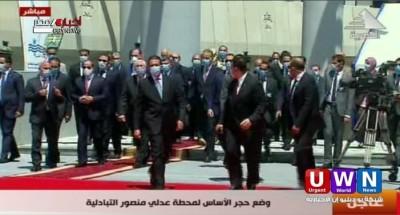 الرئيس السيسي يتفقد المرحلة الرابعة من الخط الثالث لمترو الأنفاق