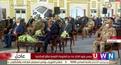 السيسي يفتتح مشروع تطوير محور المحمودية ومسجد الشهيد عبد المعنم رياض