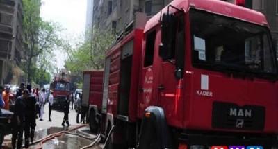 4 سيارات إطفاء لتامين كسر في ماسورة غاز بمدينة نصر