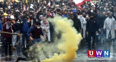 مقتل عنصر من الأمن اللبناني في مظاهرات بيروت
