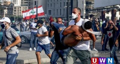 انفجار بيروت: مظاهرات حاشدة والجيش اللبناني يطرد محتجين اقتحموا مقر وزارة الخارجية
