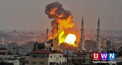 قصف إسرائيلي على قطاع غزة رداً على إطلاق بالونات حارقة