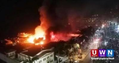 عاجل.. حريق هائل في شارع صلاح سالم (التفاصيل)