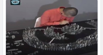 """شاب صينى يبنى نموذجاً """"مصغرا"""" لمدينته من الدبابيس"""