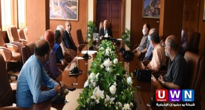 محافظ بورسعيد يلتقي وفد هيئة الخدمات الحكومية