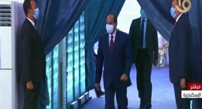 جولة تفقدية للرئيس السيسي في الجامعة المصرية اليابانية بالإسكندرية