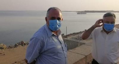 وزير الري في زيارة تفقدية لمحافظة أسوان لمتابعة جاهزية المنشات المائية والاستعداد للفيضان والسيول وعدد من المشروعات