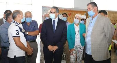 """""""وزير السياحة"""" خلال جولة تفقدية لمتحف العاصمة الإدارية الجديدة"""