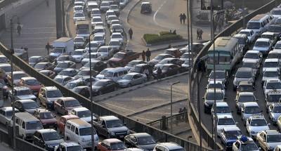 أخبار مصر | كثافات مرورية مرتفعة بمحور ٢٦ يوليو والطريق الدائرى