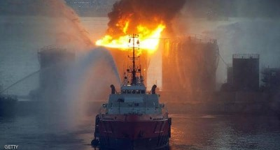 """عاجل .. انفجار ناقلة نفط روسية في بحر """"آزوف"""""""