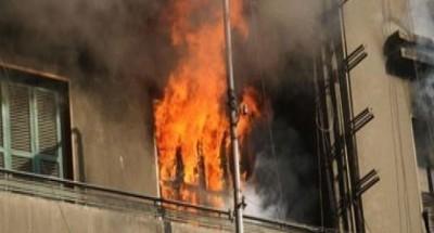 حريق داخل شقة سكنية بالبساتين
