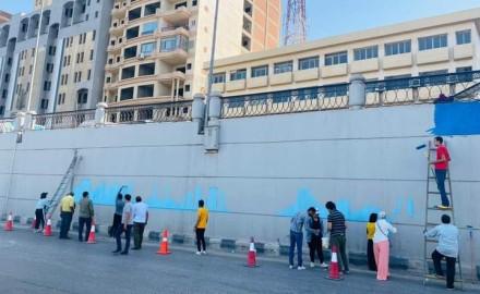 """""""محافظ الدقهلية"""" يطلق مبادرة للارتقاء بالمظهر الحضارى والجمالى للشوارع والميادين بمشاركة فريق الشباب"""