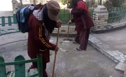 """""""محافظ الدقهلية"""" يتابع أعمال شركة النظافة لكنس الشوارع والميادين بالمحافظة"""