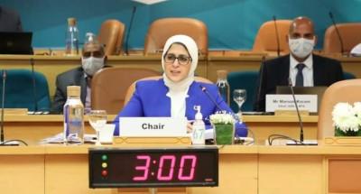 """""""وزيرة الصحة"""" خلال ترؤسها اجتماع الدورة ال ٦٧ للجنة الإقليمية """"لمنظمة الصحة العالمية"""" لإقليم شرق المتوسط"""