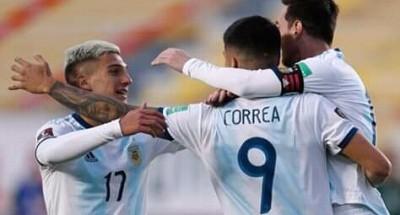 """انتصار بشق الأنفس """"للأرجنتين"""" علي """"بوليفيا"""" في تصفيات المونديال قطر 2022"""