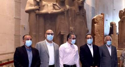 """""""رئيس الوزراء"""" و""""وزير السياحة والآثار"""" يتفقدا المتحف المصري الكبير"""