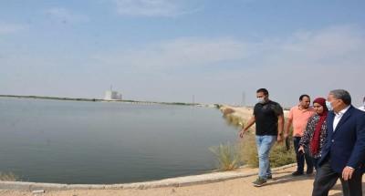 """""""محافظ المنيا"""" يتفقد بحيرات الاكسدة بالمنطقة الصناعية"""