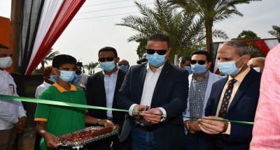 """""""محافظ الفيوم"""" يفتتح مدرسة أبو سعاد الإعدادية بمنشأة سنورس بعد تطويرها"""