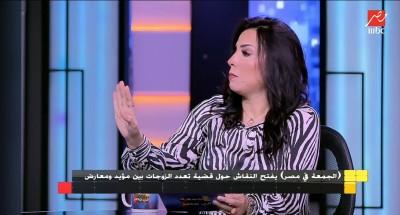 """«دعاء عبد السلام» ترد على تصريحاتها الشهيرة :""""لم أصرح بهذا الإسفاف قطعًا .. ومازلت مع فكرة تعدد الزوجات"""""""