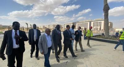 الرى تنظم زيارة لوزير الري الجنوب سودانى للعاصمة الإدارية الجديدة