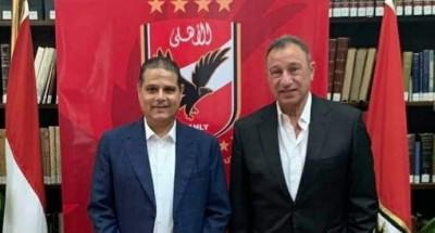 """""""محمود الخطيب"""" يستقبل رئيس نادي"""" جمهورية شبين"""""""
