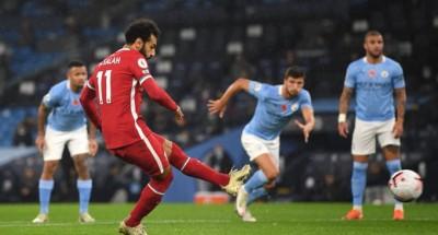 الدور الإنجليزي  التعادل الإيجابي يحسم الشوط الأول بين ليفربول ومانشستر سيتي