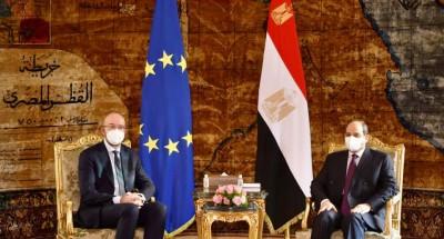 أخبار مصر   السيسي وميشيل يبحثان التوتر بين العالمين الإسلامي والأوروبي