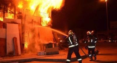اخماد حريق بمستودع بوتاجاز بالمنيا