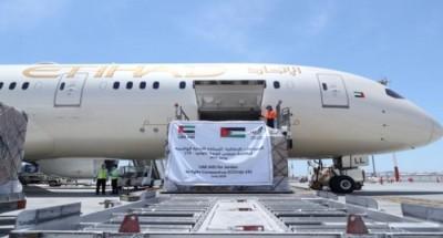 """طائرة مساعدات طبية """"إماراتية"""" تصل إلى """"الأردن"""" لدعمها في مواجهة كورونا"""