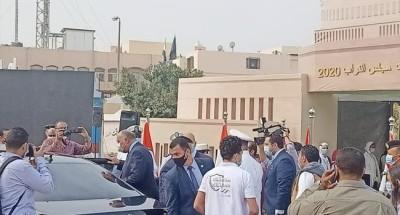 """""""وزير الخارجية"""" يدلي بصوته في انتخابات النواب بالتجمع الخامس"""