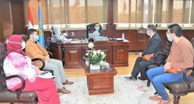 """""""محافظ الغربية"""" يستقبل وفد وزارة التخطيط لبحث خطة إنشاء مراكز تكنولوجية إضافية للتيسير على المواطنين"""