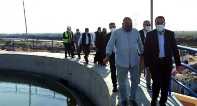 """""""رئيس الوزراء"""" يتفقد مشروع إنشاء محطة ترشيح المياه السطحية بالكاب"""