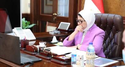 """""""وزيرة الصحة"""" توجه بمتابعة العمل بالمبادرات الرئاسية"""