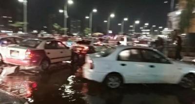 أمطار غزيرة تتسبب بإصابة شخصين بالمنصورة