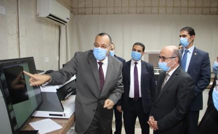 """""""وزير العدل"""" يتفقد أعمال تطوير مصلحة الطب الشرعي بزينهم"""