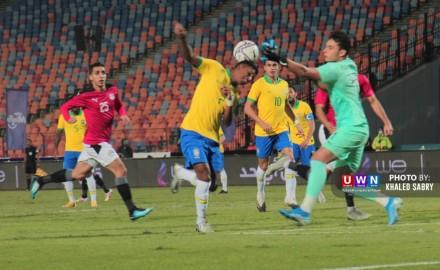 شاهد مباراة مصر الأولمبي والبرازيل الودية بث مباشر الآن