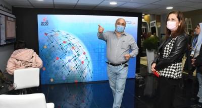 """""""وزيرة التخطيط"""" تتفقد جناح الوزارة بمعرض القاهرة الدولي للاتصالات 2020"""