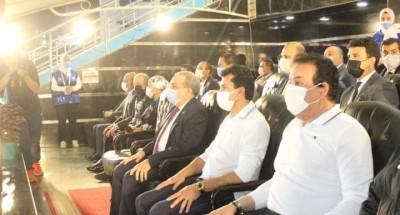 """""""وزير التعليم العالي"""" يشهد انطلاق دوري الوزارات ويشارك في مباراة استعراضية"""