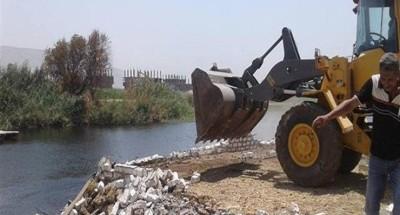 """""""الري"""": إزالة 24 حالة تعد على نهر النيل في الغربية وكفر الشيخ"""