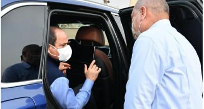 """الرئيس """"السيسي"""" يتفقد خطوات تطوير شبكة الطرق بالقاهرة"""