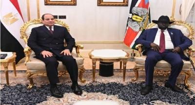"""الرئيس """"السيسي"""" يستقبل نظيره بجنوب السودان لبحث العلاقات الثنائية بين البلدين"""