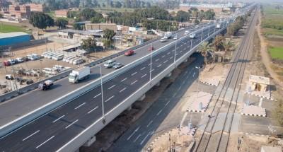أخبار مصر | وزير النقل ومحافظ القليوبية يشهدان بدء التشغيل التجريبي لكوبري قلما (صور)
