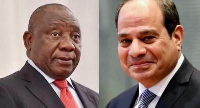 """الرئيس """"السيسي"""" يتباحث مع نظيره بـ""""جنوب افريقيا"""" حول مستجدات قضية """"سد النهضة """""""