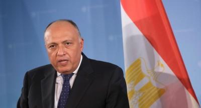 """""""وزير الخارجية"""" يجتمع مع نظيره الاردني والفلسطيني لبحث تطورات القضية الفلسطينية"""